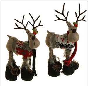 "13.5"" Reindeer Pair with Snow Boots"