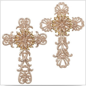 "6"" CROSS ORNAMENT SET OF 6"