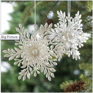 "6"" Snowflake Ornaments Set of 6"