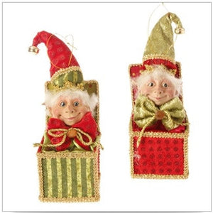 "9"" Elf Jack in the Box Pair"