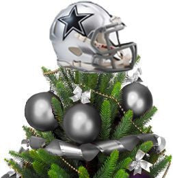 Dallas Cowboy Helmet Tree Topper with Treemate