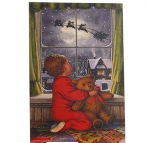 "24"" Lighted Boy in Window Print 3111353"