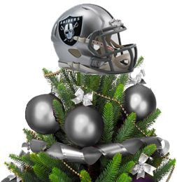 Raiders Helmet Tree Topper with Treemate