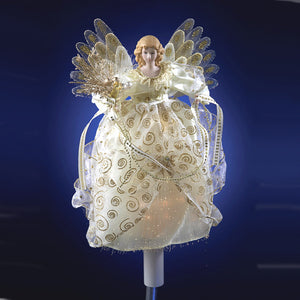 "12"" Animated Fiber Optic Angel by Kurt Adler UL1045"