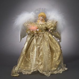 "12"" Kurt Adler Fiber Optic Angel Tree Topper UL1069"