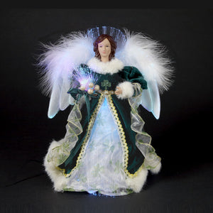 "12"" Fiber Optic Irish Angel Tree Topper UL1075"
