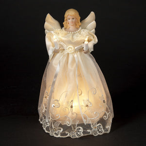 "10"" Gold And Ivory Angel Tree Topper UL1076"