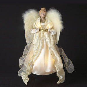 "14"" Gold/Ivory Angel Tree Topper UL1080"