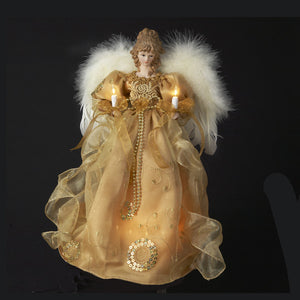 "14"" 10 Light Gold Angel Topper UL2202"