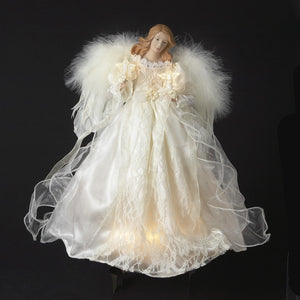 "16"" 10 Light Ivory Angel Topper UL2203"
