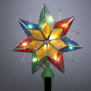 "10"" Multi-color Capiz Star Tree Topper UL3049"