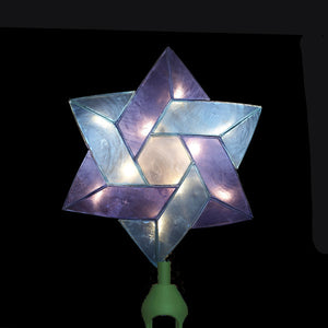 "8"" 10 Light Star of David Tree Topper UL3088"