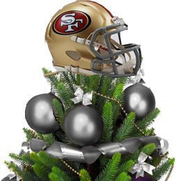 49ers Helmet Tree Topper with Treemate