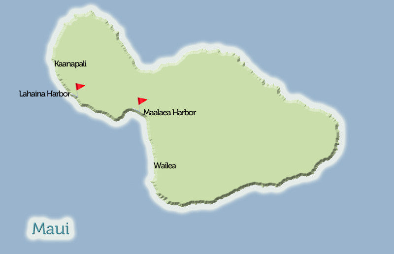 Maui Deep Sea Fishing Harbor Map View