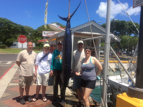 Marlin caught on Play n Hooky, Oahu, Sportfishing