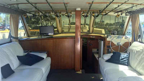Interior of Play n Hooky Sportfishing Hawaii