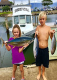 Deep Sea, young anglers, Haleiwa, fishing