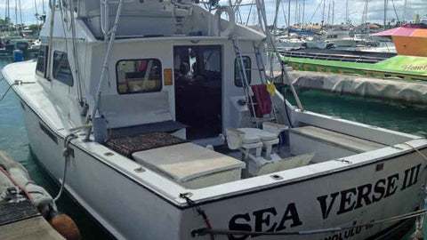 Aft View Sea Verse Sport Fishing with Hawaii Deep Sea Fishing