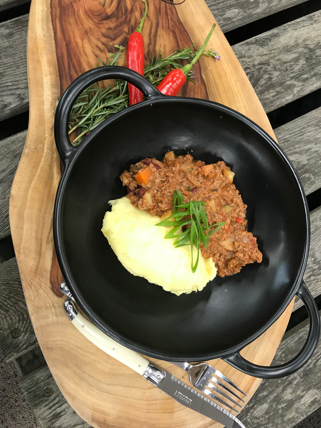 Chili Con Carne with Mash Potato