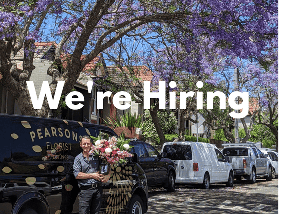 Pearsons are hiring Experienced Florists