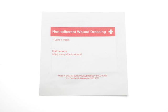Non-adherent wound dressing, sterile, 7.5cm x 10cm