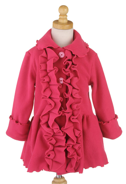 #6329 Hot Pink Ruffle Jacket & Hat Set