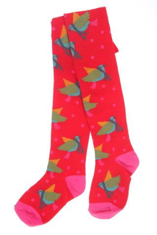#240 Red Bird Tights