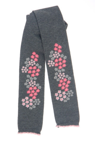 #200 Charcoal & Pink Leggings