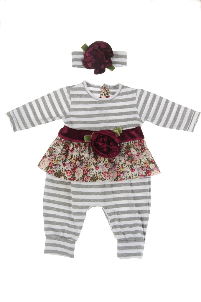 #1831HG Berries Infant Romper Set