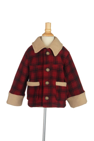 #1718RD Plaid Barn Jacket
