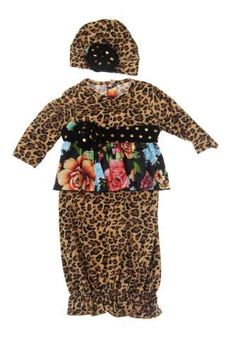 #1832LPD Leopard Infant Sack Set