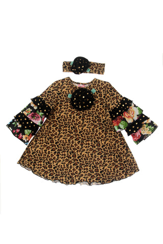 #1826LPD Leopard Dress Set