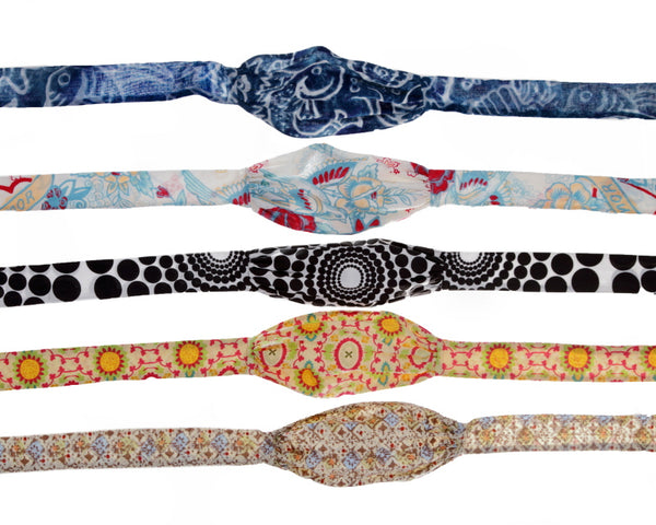 Batik Blues- 2 in 1 headband/mask