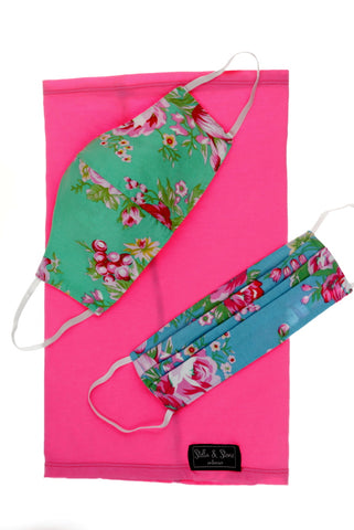 Garden Floral - 3 piece mask set