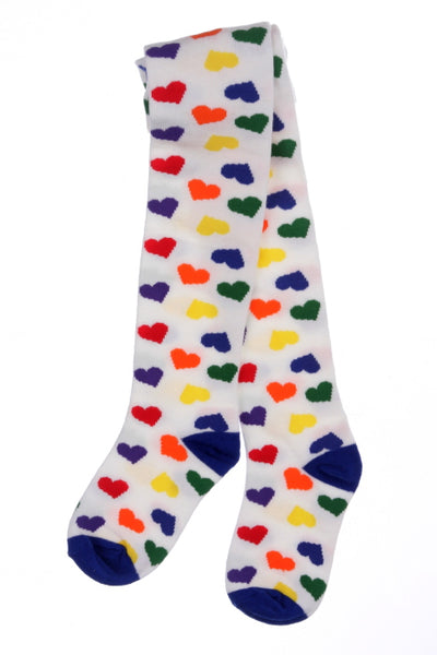 #240 Rainbow Heart Tights