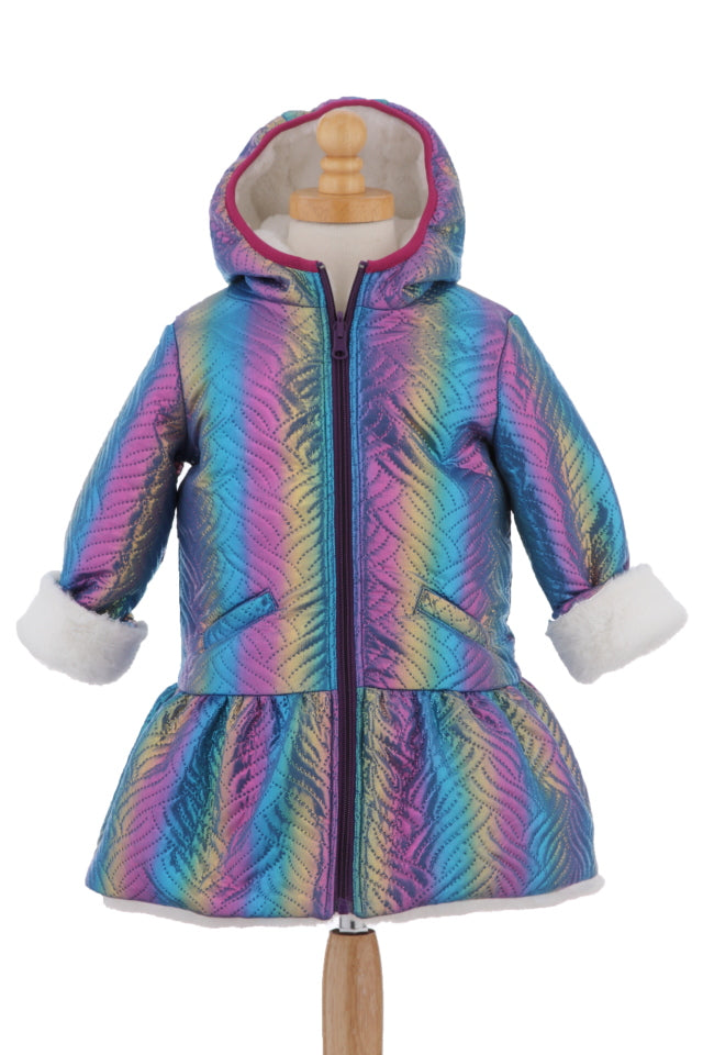 #1925 Quilted Unicorn Reversible Hooded Jacket