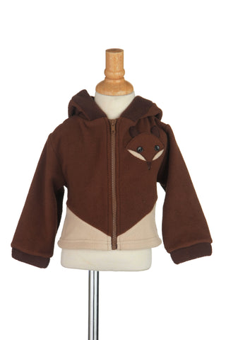 #1719FX Fox Fleece Hooded Jacket