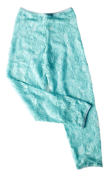 #200 Blue Lace Leggings