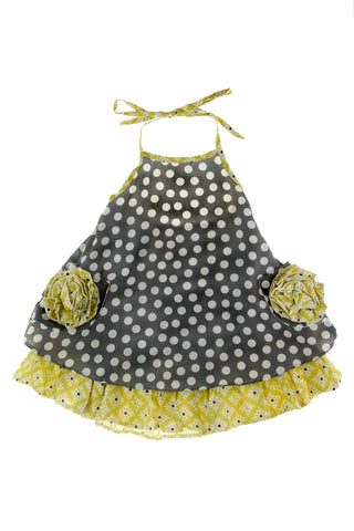 #4073 Diamonds & Dots Halter Dress