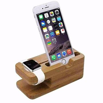 Natural Wood Apple Watch Smart Watch Charging Stand - Gorilla Gadgets
