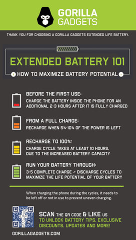 How to calibrate my extended life phone battery