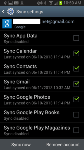 Turn off sync to improve your phone battery life