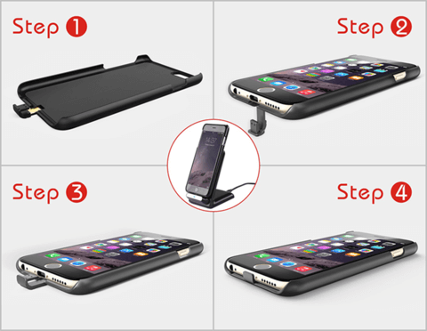 How to install a wireless charging adapter phone case