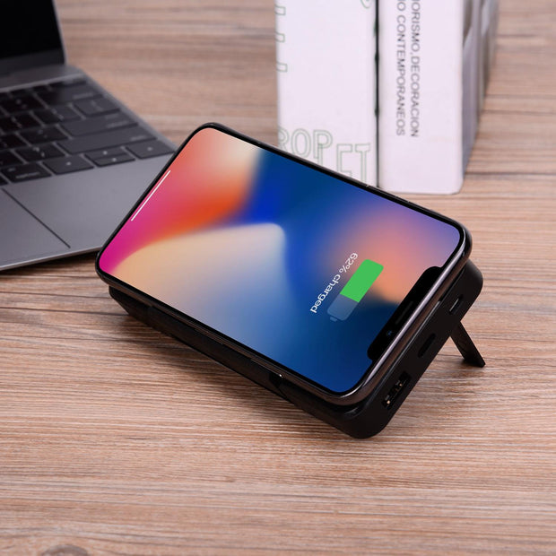 10000mAh Wireless Charger Power Bank with Kickstand - Gorilla Gadgets
