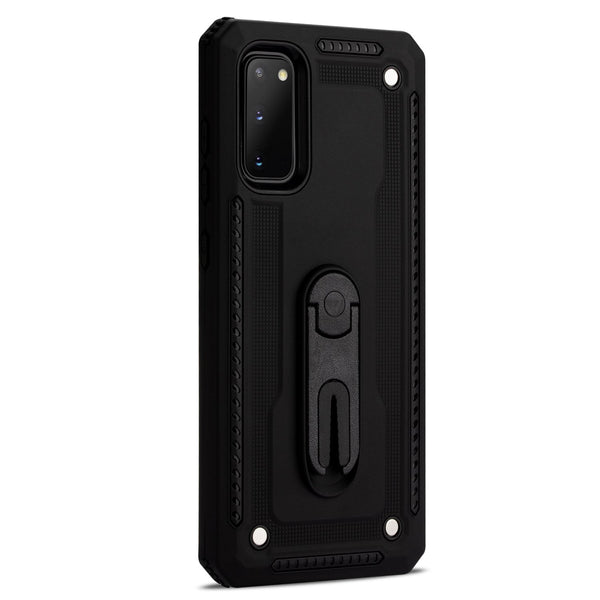 Samsung S20 Layered Protective Case with Air Vent Holder and Kickstand