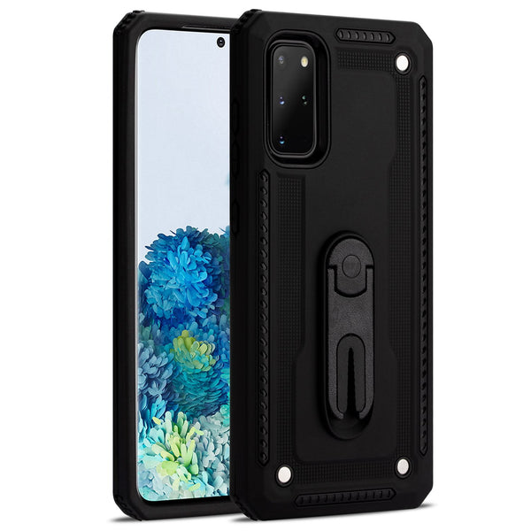 Samsung S20+ Layered Protective Case with Air Vent Holder and Kickstand