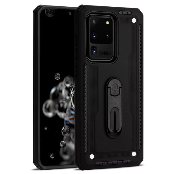 Samsung S20 Ultra Layered Protective Case with Air Vent Holder and Kickstand