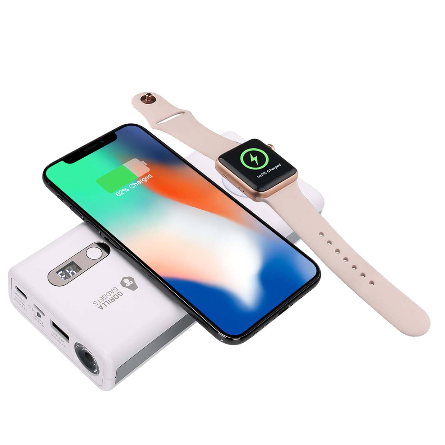 2-in-1 Qi Wireless Power Bank and Apple Watch Charger (20000mAh)