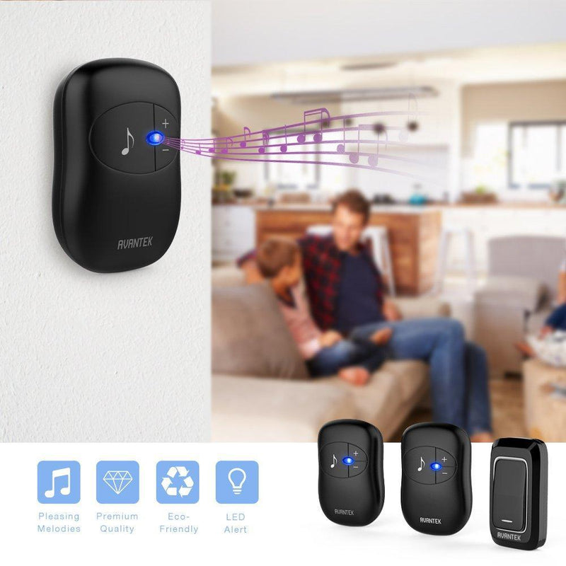 Wireless Doorbell with 300 Meters of Range and 36 Melodies - eclubdeals