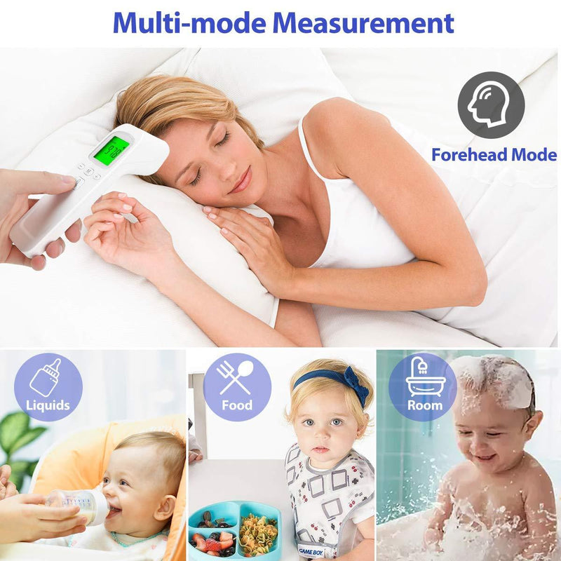 Non-Contact Infrared Forehead Thermometer with Fever Alarm, Memory Function